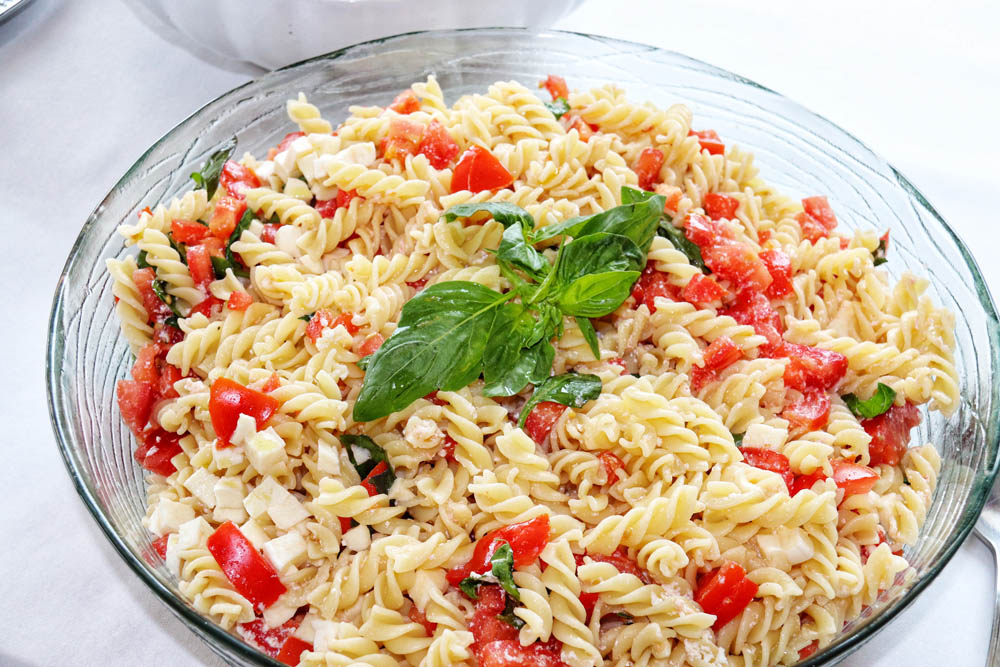 Pasta salad in the bowl
