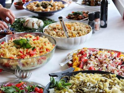 Italian catering buffet