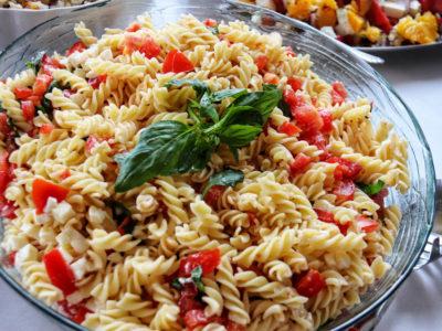 Pasta salad with tomato