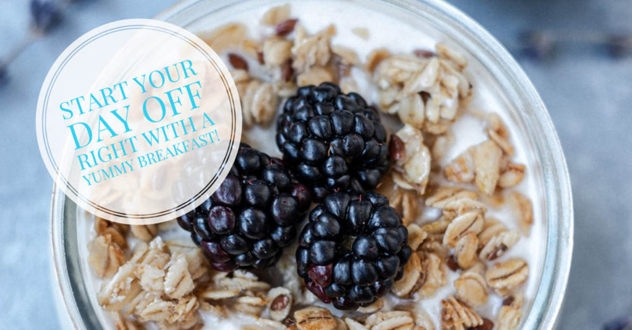 Breakfast oats with Blackberries