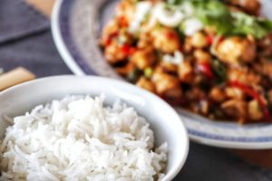 Kung Pao Chicken with Basmati Rice