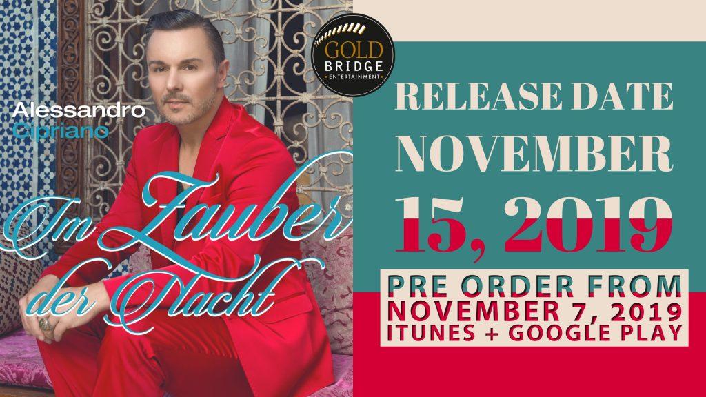 Single release November 15th 2019, Im Zauber der Nacht by Alessandro Cipriano
