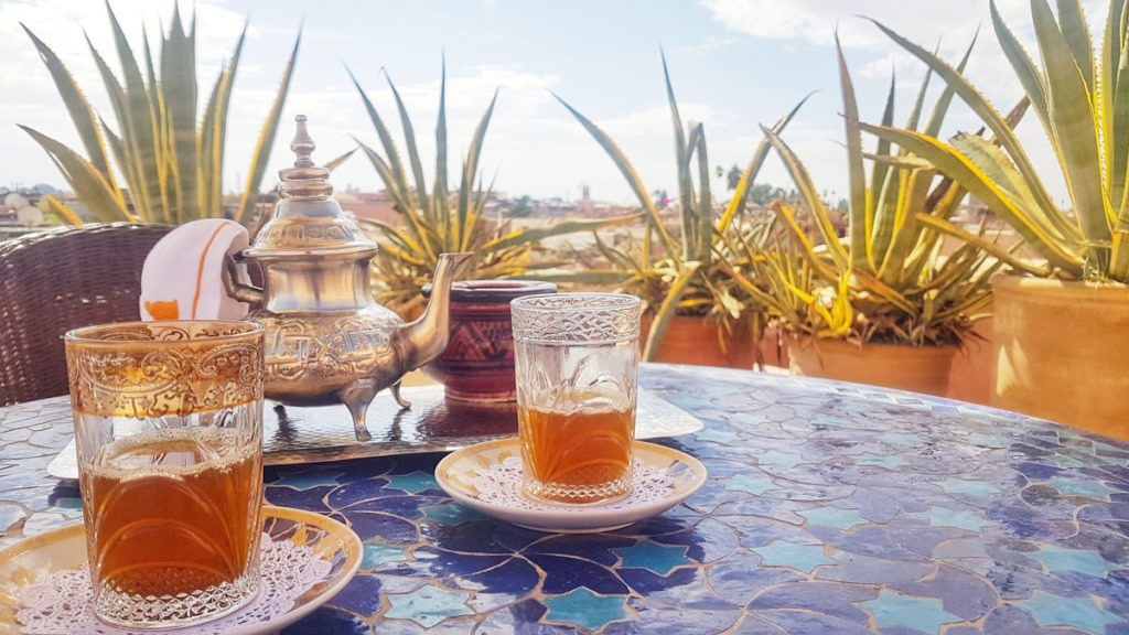 On the rooftop @ the Riad Enija
