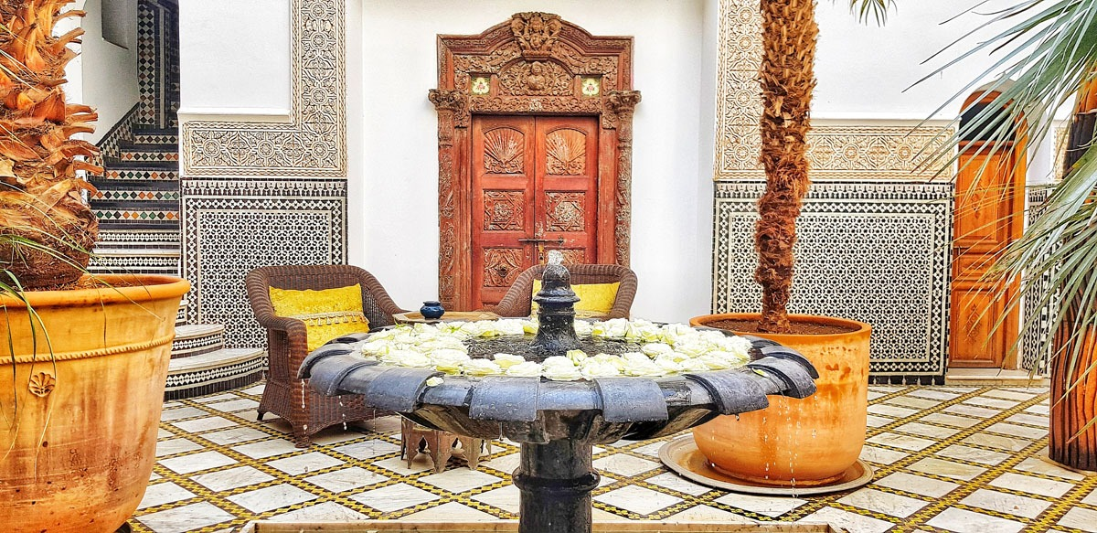 Riad Enija, Marrakech, one of the patio's
