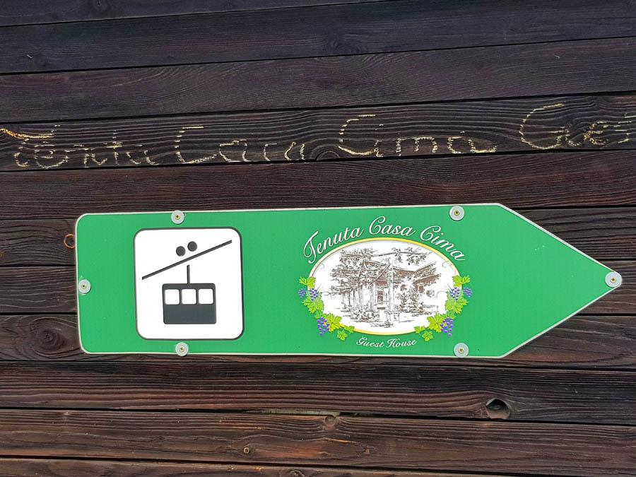 Tenuta Casa Cima, Pension, private Seilbahnstation