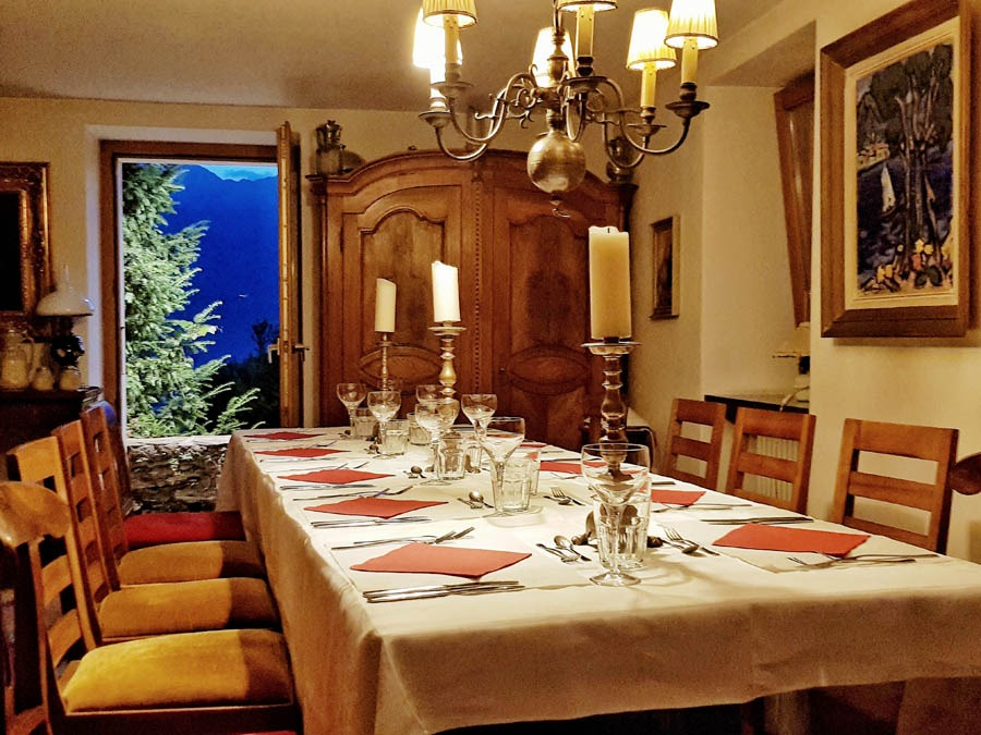 Tenuta Casa Cima, guest house, dining table