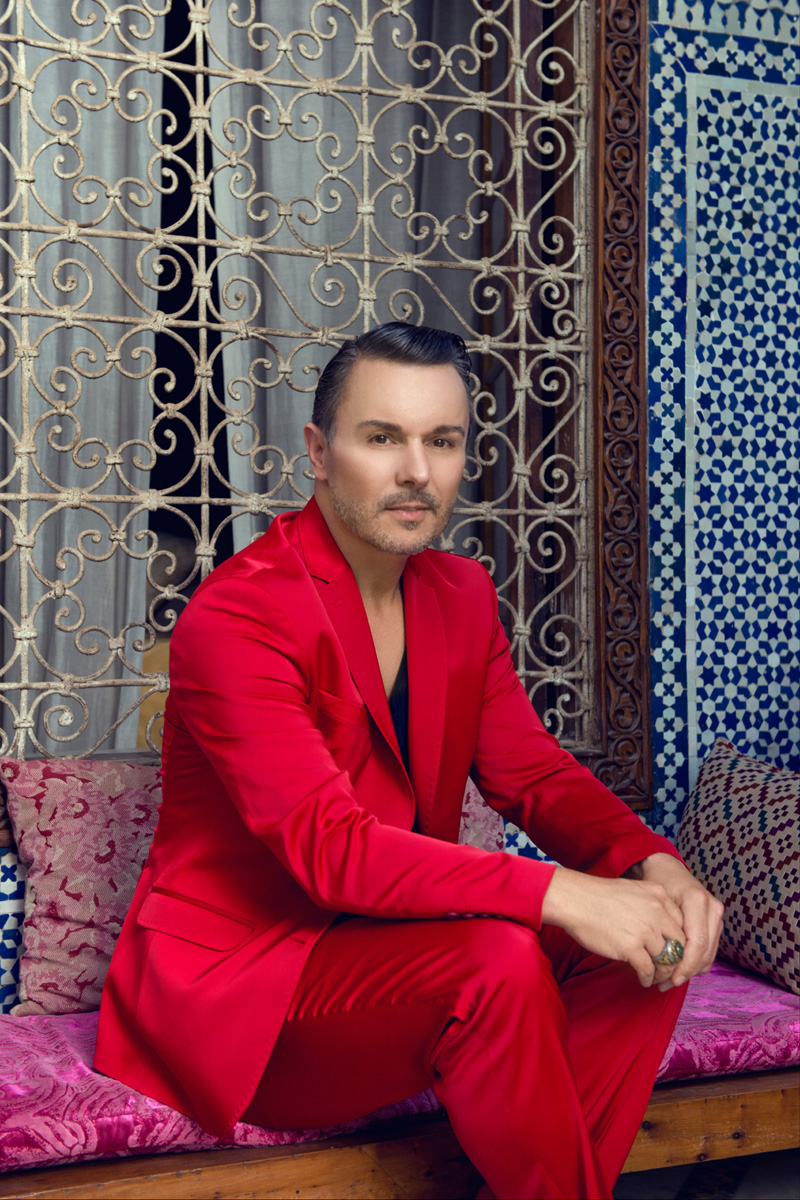 Alessandro Cipriano at Riad Enija in Marrakech during a photo shooting
