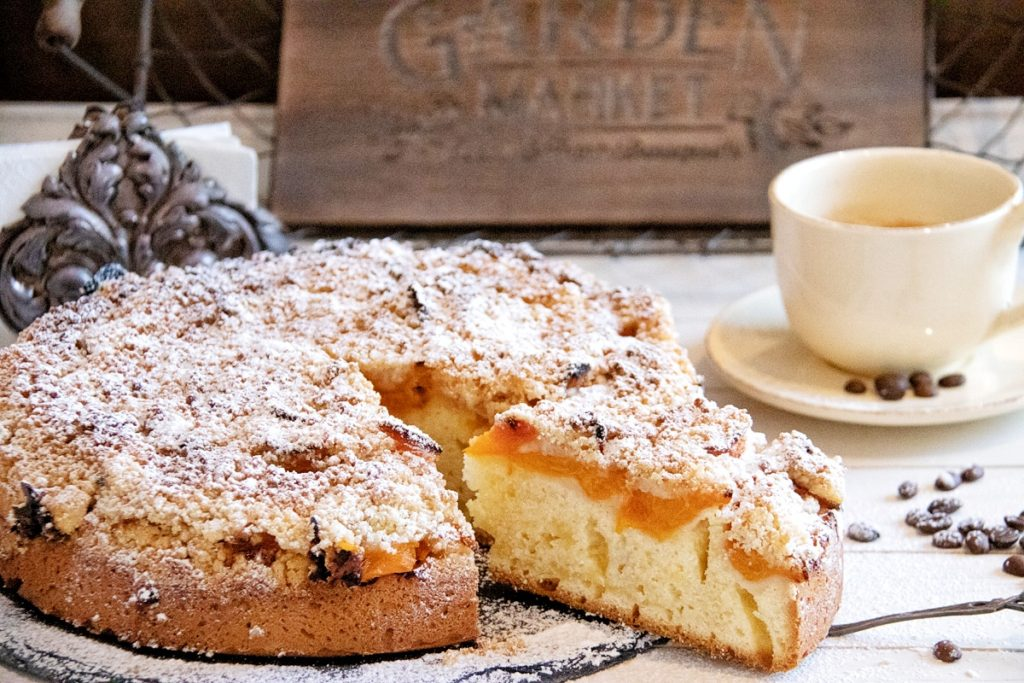 Aprikosen Crumble Kuchen Rezept