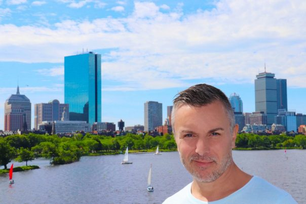 Alessandro Cipriano in Boston, With view of Charles River and John Hancock Tower