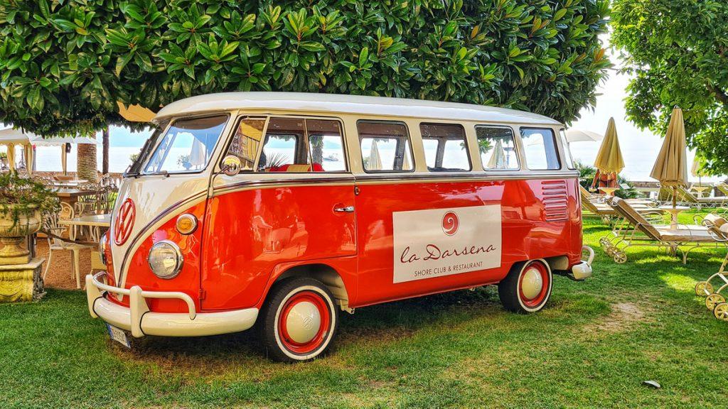Grand Hotel Fasano, Gardone Riviera, Lago di Garda, Oldtimer, VW Bus