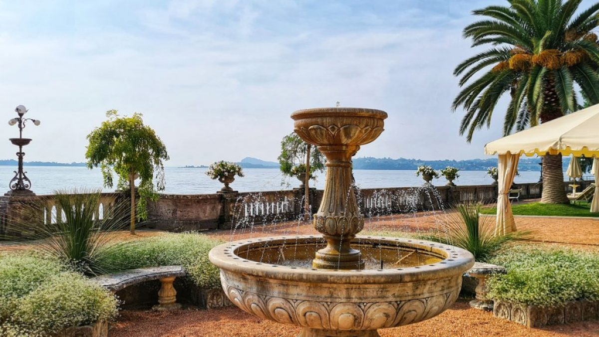Grand Hotel Fasano, Gardone Riviera, Lago di Garda, Fountain