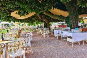 Grand Hotel Fasano, Gardone Riviera, Lago di Garda, Gartenrestaurant