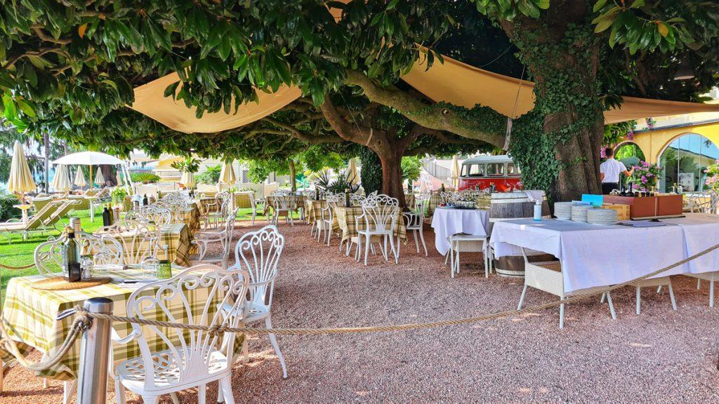 Grand Hotel Fasano, Gardone Riviera, Lago di Garda, Garden Restaurant