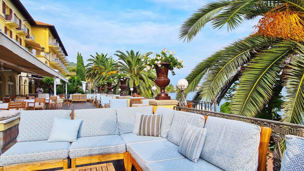 Grand Hotel Fasano, Gardone Riviera, Lago di Garda, auf der Terrasse