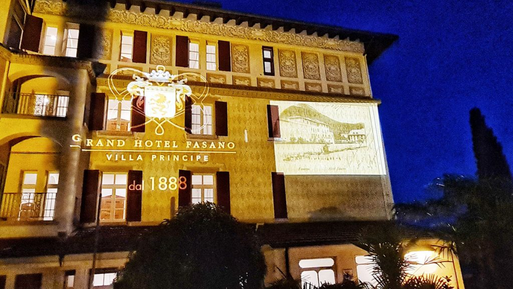 Grand Hotel Fasano, Gardone Riviera, Lago di Garda, Nachtblick