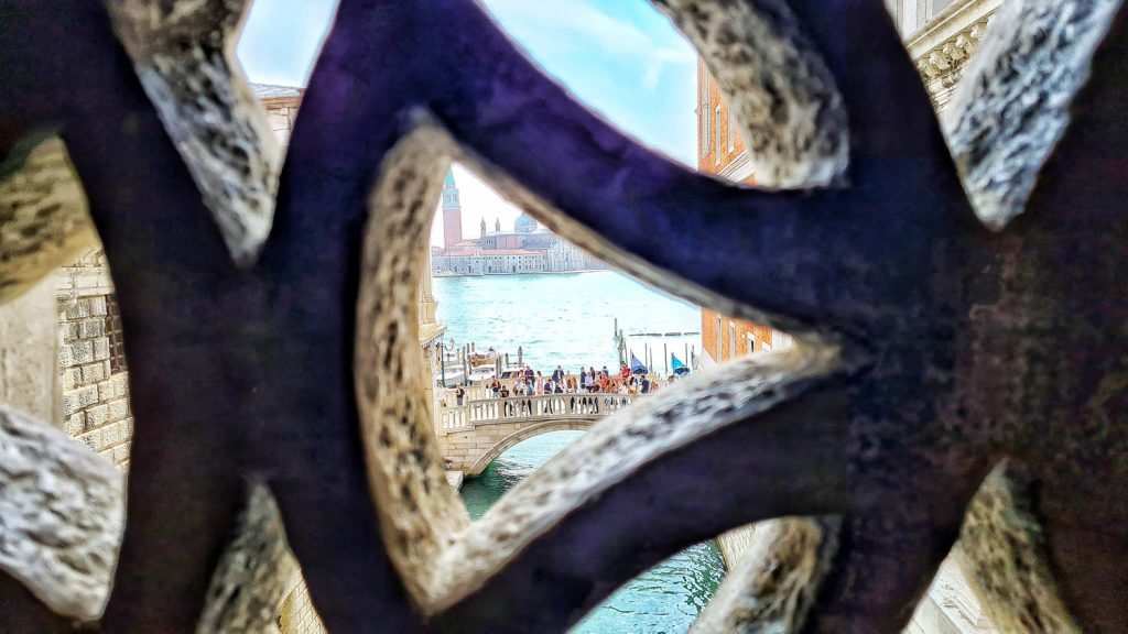 Doge's Palace, Venice, View from the Bridge of Sighs