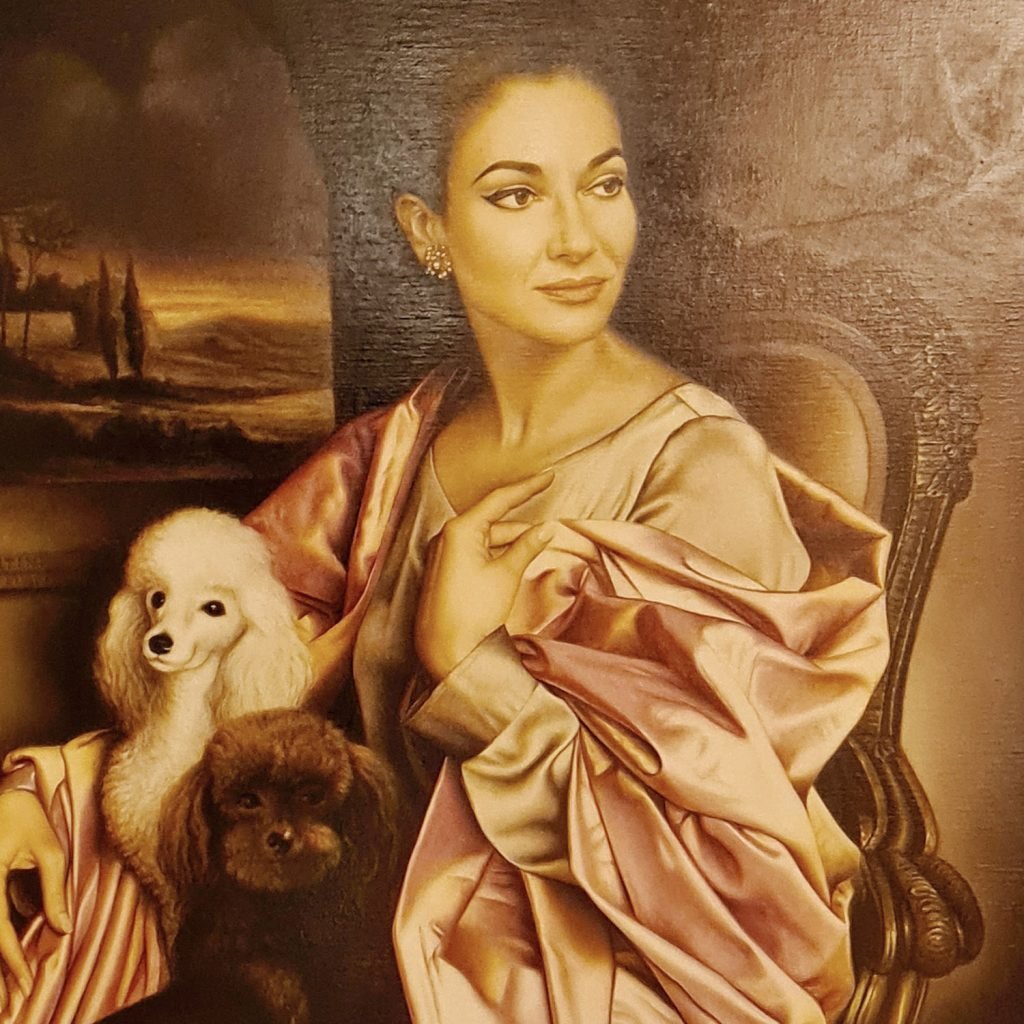 La Fenice Opera House in Venice, and Maria Callas