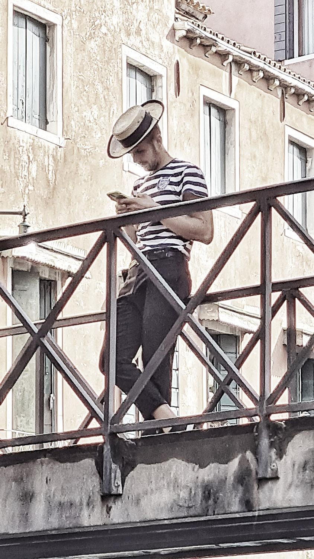 Venice, Canale Grande Tour, Gondoliere