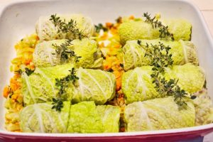 French Stuffed & Braised Cabbage Rolls