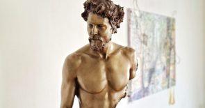 Bruno Catalano Unvollständige Bronze-Skulpturen, Hubert II