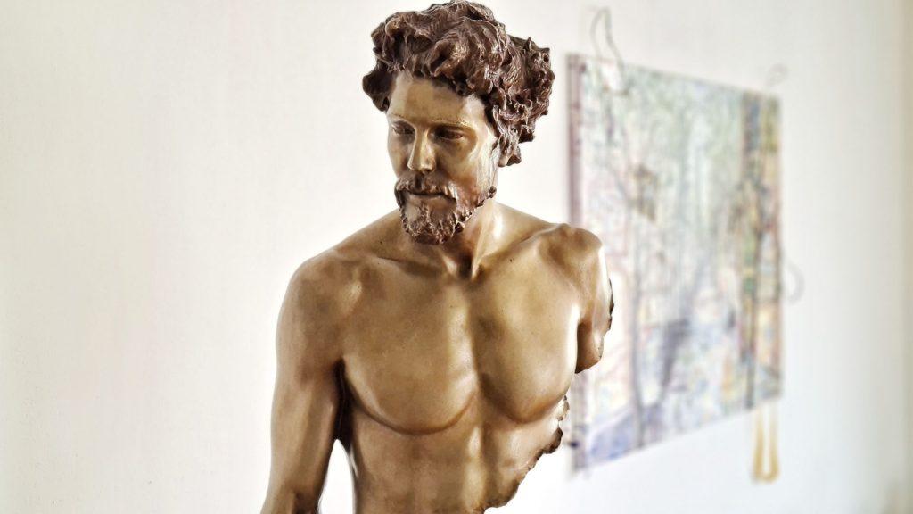 Bruno Catalano Incomplete Bronze Sculptures, Hubert II